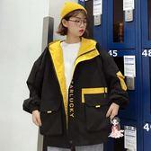 夾克外套 工裝外套女春秋新款韓版BF原宿寬鬆超火cec學生港味ins夾克棒球服 4色S-XL