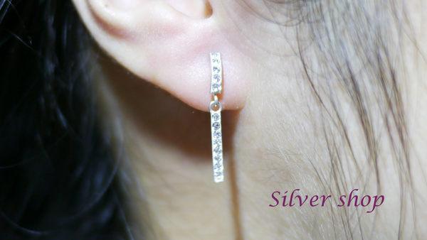 ╭☆ Silver shop ☆╯純銀 S925 耳環 [ se 044 ]