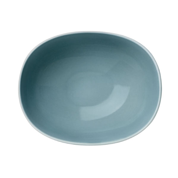 【Luzerne】陸升瓷器 Oyster 14cm 橢圓湯碗218ml(B)-灰藍 /OT1124014