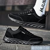 登山鞋春足力老人鞋男軟底中老爸爸鞋皮面防水防滑運動休閒健步鞋 快速出貨