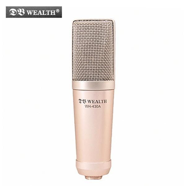★集樂城樂器★WEALTH WH-430A 大膜片心型指向性電容式錄音麥克風