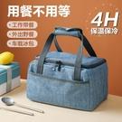 日式大容量保溫袋 鋁箔加厚外出飯盒袋子上班族帶飯便當袋手提包 創意新品