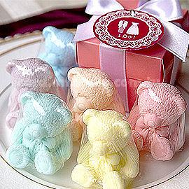婚禮小物 Pink粉紅盒裝泰迪熊香皂(贈精美吊牌) - 二次進場/迎賓/送客 幸福朵朵