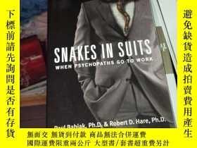 二手書博民逛書店snakes罕見in suits when psychopath