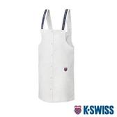 K-SWISS Cotton Twill Dress連身吊帶裙-女-白