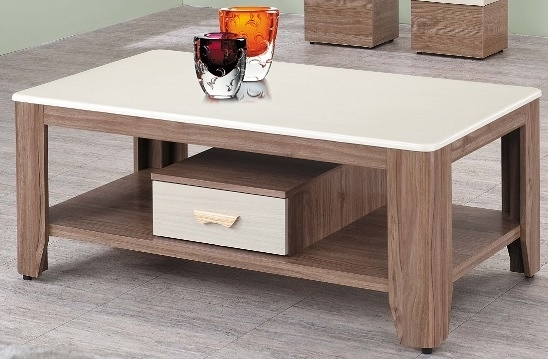 【南洋風休閒傢俱】時尚茶几系列-柚木色/胡桃色石面大茶几 (含凳2個) 沙發桌 咖啡桌 SB676-1-3