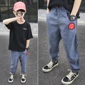 男童褲子兒童防蚊褲夏裝2020新款冰絲薄款中大童夏季童裝牛仔褲潮【快速出貨】