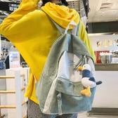 INS風書包女韓版高中原宿ULZZANG中學生大學生初小清新雙肩包背包 koko時裝店