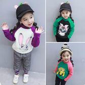女童加絨打底衫2018秋冬新款兒童小童女寶寶上衣童裝加厚長袖T恤 薇薇