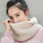 冬季女士圍脖2016新款學生純色毛線圍巾女式針織韓版加厚保暖脖套『CR水晶鞋坊』