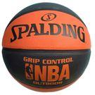SPALDING 斯伯丁 7號 雙色籃球(橘/黑)SPA83081/一個入{特750} NBA籃球 Grip Control經典橘-Rubber~偉DFSP-16200R