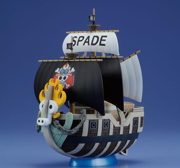 尼德斯Nydus~* 日本正版 海賊王 火拳艾斯 SPADE 黑桃海賊團海賊船 組裝模型 裝飾 公仔 約11.7公分
