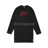 Nike 連身裙 NSW Fleece Dress 黑 紅 女款 長版上衣 裙子 【PUMP306】 CU3661-010
