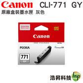 CANON CLI-771 GY 灰 原廠盒裝墨水匣 適用 MG7770 機型