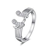 戒指 925純銀 鑲鑽-音符造型生日情人節禮物女飾品73dx8[時尚巴黎]