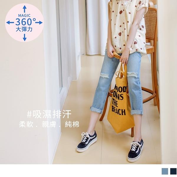 《MA0327-》魔術360~率性刷破高含棉牛仔孕婦褲 OB嚴選