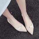 平底鞋 春季新款淺口網紅晚晚鞋百搭平底仙女瓢鞋尖頭單鞋女鞋 - 古梵希