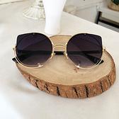 時尚歐美不規則金屬墨鏡 簍空造型太陽眼鏡 超質感墨鏡 抗UV400