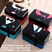 日式飯盒 便當盒 微波爐創意可愛學生午餐盒日式多層分隔帶叉勺【一條街】