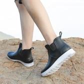 雨鞋 時尚雨鞋男防水防滑低幫水鞋廚房廚師戶外短筒雨靴加絨保暖鞋秋冬