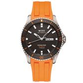 MIDO 美度 OCEAN STAR海洋之星80動力鈦潛水機械錶-灰x橘/42mm M0264304706100