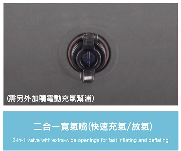 【INTEX】新型氣柱-雙人植絨充氣床墊(寬137cm) 15010181(64102)