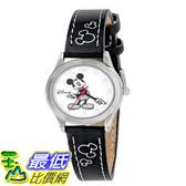 [103美國直購] 手錶 Disney Womens MK1006 Mickey Mouse White Dial Black Strap Watch $941