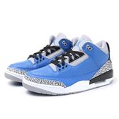 NIKE 籃球鞋 AIR JORDAN 3 RETRO VARSITY ROYAL 藍灰 喬丹 爆裂紋 男 (布魯克林) CT8532-400
