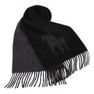RALPH LAUREN POLO 經典大馬圖徽保暖圍巾(黑色)780913