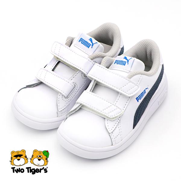 PUMA Smash v2 L V Inf 運動鞋 小童 白 R7120(36517430)