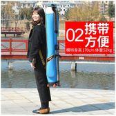 沃鼎魚竿包漁具包1.25米釣魚包竿包桿包硬殼防水兩三層帶支架釣具 igo摩可美家