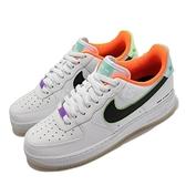 Nike 休閒鞋 Air Force 1 07 LE 白 彩 男鞋 電競主題 AF1 可搭配膠片 【ACS】 DO2333-101