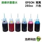 【六色一組/奈米寫真/填充墨水】EPSON 250CC 適用EPSON 連續供墨系統之機型
