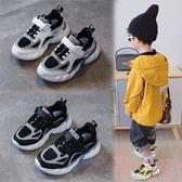童鞋潮酷韓版休閒男女童時尚兒童運動鞋【聚可愛】