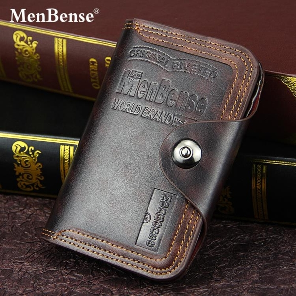 歐美男士錢包短款時尚商務休閒磁扣搭扣企包大容量多功能三折錢夾 依凡卡時尚