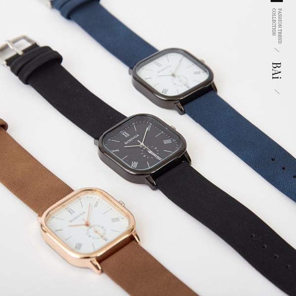 金屬大方框羅馬手錶-BAi白媽媽【316138】