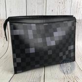 BRAND楓月 LOUIS VUITTON LV N60175 經典 黑色 深藍色 棋盤紋 拚色 手拿包 隨身包