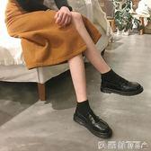 樂福鞋英倫風女鞋黑色小皮鞋簡約百搭平底單鞋小皮鞋女夏季新款女 【新品熱賣】