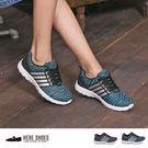 [Here Shoes]MIT台灣製 休閒運動風 四線反光 綁帶 透氣網布 休閒鞋 運動鞋 2色─KBA-39