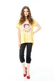 【 BETTY BOOP 】貝蒂春夏品牌服飾特賣~格紋滾邊鈕釦七分褲 NO.BS14308