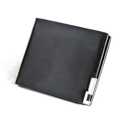 短夾男錢包-簡約商務PU皮革短款男皮夾3款73pp335【時尚巴黎】