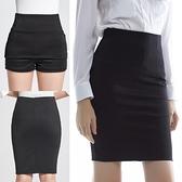 窄裙 2021春夏OL中長款黑半身裙職業裙高腰裙彈力包臀裙安全褲一步裙女 霓裳細軟