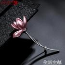 胸針 韓國時尚百搭個性氣質琺瑯彩小花胸針女外套開衫西裝胸花日系配飾-完美