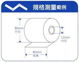 熱感紙 80*80*12mm 感熱紙捲~1箱30入/出單紙/熱感紙捲/工廠直營