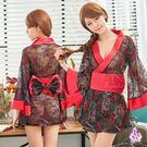 黑紅撞色日式和服角色扮演服三件組 | OS小舖