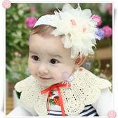 韓國雪紡花朵寬蕾絲兒童髮帶 髮圈 髮箍 髮飾 橡皮筋