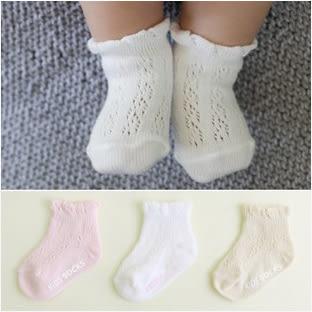 童襪 春夏款嬰兒蕾絲透氣薄網眼襪子 B6B015