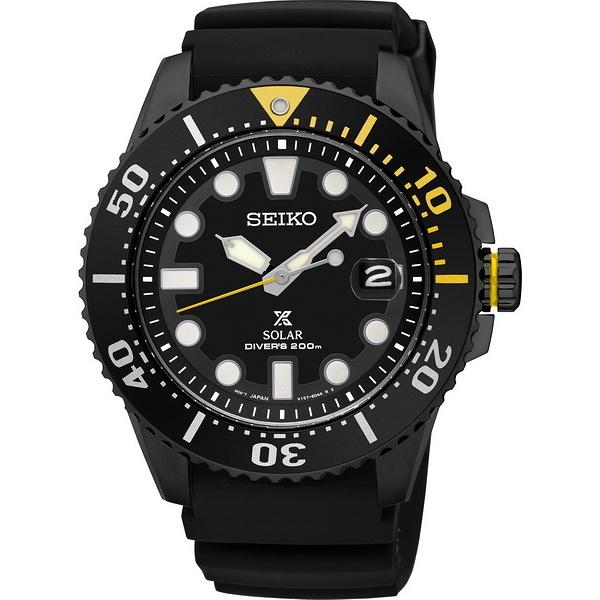 【台南 時代鐘錶 SEIKO】精工 Prospex 太陽能專業潛水錶 SNE441J1@V157-0BT0SD 黑 43mm