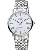 LONGINES 浪琴 Elegant 優雅系列羅馬機械腕錶/手錶-白/39mm L49104116