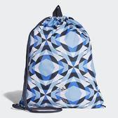 adidas Wanderlust Graphic Gym 白藍 幾何 束口袋 CW0120